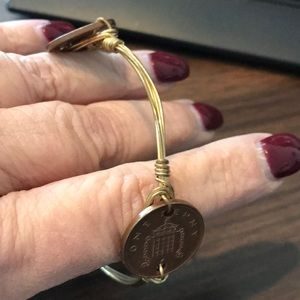Bourbon & Boots brass wire coin bangle